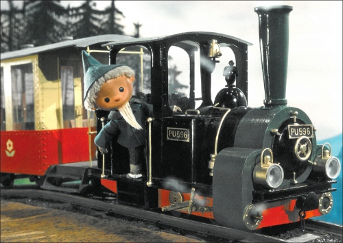 Sandmännchen fährt Eisenbahn