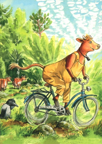 Mamma Mu fährt Rad
