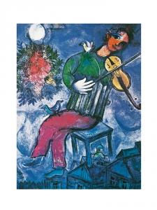 Marc Chagall - Blauer Geiger
