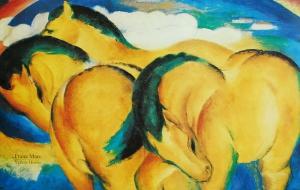 Franz Marc - Yellow Horses