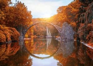 Rakotzbrücke, Devil\s Bridge, Kromlau