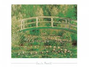Claude Monet - Waterlilies and japanese bridge