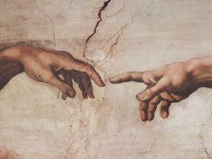 Michelangelo Buonarroti - Creation of Adam  (Detail)