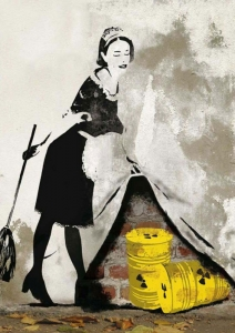 Streetart - Behind the curtain