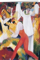 August Macke - Pierrot with Dancing Couple
