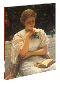 Charles Edward Perugini, Girl Reading (1878)