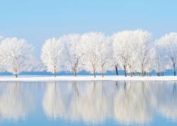 Crystal-clear Lake at Dawn