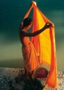 Monk washing his Robe