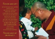 Dalai Lama greeting a child...