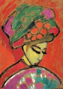 Alexej von Jawlensky - Young Girl in a Flowered Hat
