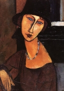 A. Modigliani - Jeanne Hebuterne with hat and necklace
