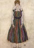 Egon Schiele - Porträt der Edith Schiele
