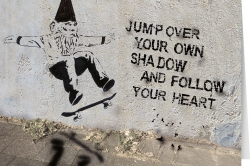 Jump over your own shadow