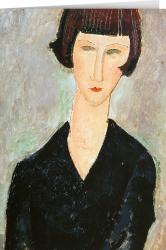 Amedeo Modigliani - Frau im schwarzen Kleid