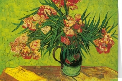 Vincent van Gogh - Vase with oleander and books (1888)