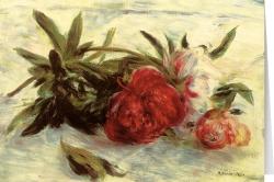 Auguste Renoir - Päonien auf weißem Tischtuch (1878-1879)