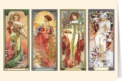 Alphonse Mucha - The Seasons (1900)