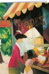 August Macke - In Front of a Hat Shop (1913)