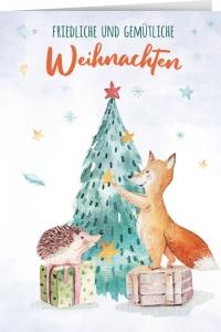 Friedliche und gemütlive Weihnachten