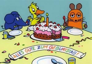 Viel Glück zum Geburtstag