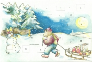 Advent Calendar Postcard