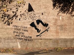 Streetart - Jump over...