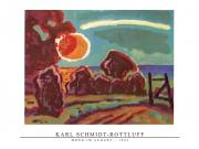 Karl Schmidt-Rottluff - Mond im August