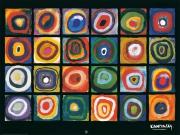 Wassily Kandinsky - Farbstudie: konzentrische Kreise