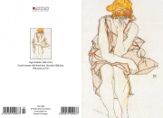 E. Schiele - Seated woman with blond hair