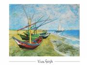 Vincent van Gogh - Fischerboote am Strand von Saint-Maris